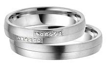 IM503 венчални халки бяло злато или платина