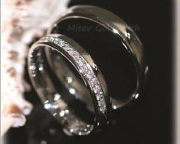 IM246, брачни и сватбени халки злато 14к диаманти