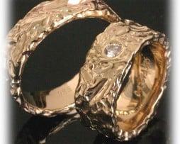 IM213 брачни сватбени халки жълто злато 1
